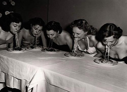 IMAGEEating Spaghetti