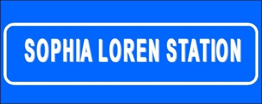 Loren Station Sign
